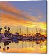 Smyrna Yacht Club Sunrise II Canvas Print