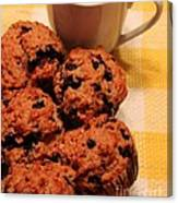 Snack Time - Muffins And Coffee Canvas Print