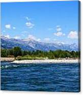 Snake And Tetons Canvas Print
