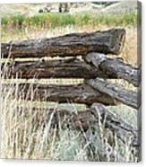 Snake Fence And Sage Brush Canvas Print