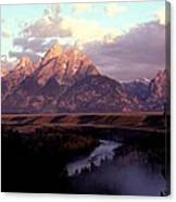 Snake River Overlook At Dawn  Canvas Print