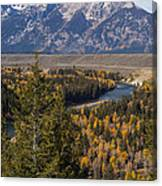 Snake River Overlook One Canvas Print
