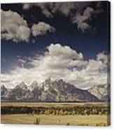 Snake River Valley Grand Teton Np Canvas Print