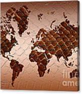 Snake Skin World Map Canvas Print