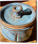 Snickerhaus Pottery-vessel With Lid Canvas Print