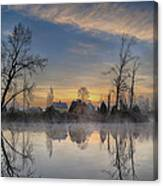 Dawn On The Snohomish Canvas Print