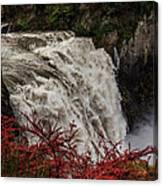 Snoqualmie Falls At Flood Stage Canvas Print