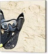Snorkel Equipment Canvas Print