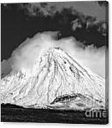 Snow And Clouds On Mt. Ngauruhoe 2 Canvas Print