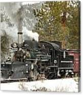 Snow And Steam Canvas Print