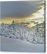 Snow And The Sierra Highway 88 Canvas Print