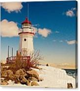 Snow At Cheboygan Crib Canvas Print