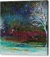 Snow At Twilight Canvas Print