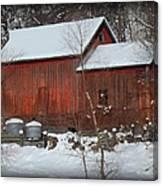Snow Barn II Canvas Print