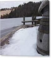Snow Barrel Canvas Print