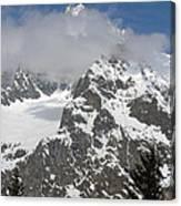 Snow Bowl In Italian Alps Canvas Print