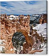 Snow Capped Arch At Bryce Canvas Print