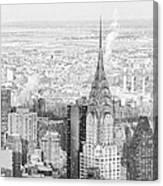 Snow - Chrysler Building And New York City Skyline Canvas Print