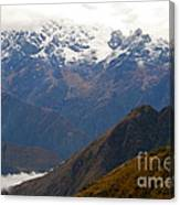Snow Clouds In The Andes Canvas Print