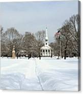 Snow Covered Guilford Canvas Print