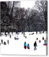 Snow Day - Fun Day Canvas Print
