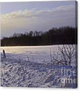 Snow Devils Playing Canvas Print