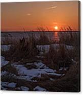 Snow Dune Sunset Seaside Park Nj Canvas Print