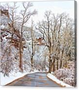 Snow Dusted Colorado Scenic Drive Canvas Print