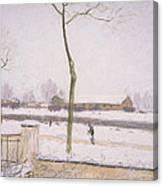 Snow Effect Effet De Neige Pastel On Paper C. 1880-1885 Canvas Print