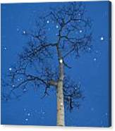 Snow Falling Where The Leaves Used To Be  Ethe  Canvas Print