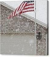 Snow Flag Canvas Print