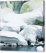 Snow Formations Canvas Print