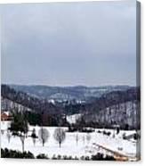 Snow Hills Canvas Print