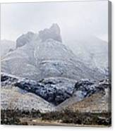 Snow In Big Bend Canvas Print