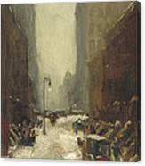 Snow In New York Canvas Print