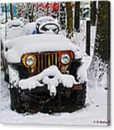 Snow Jeep Canvas Print