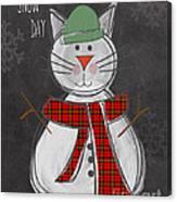 Snow Kitten Canvas Print