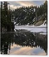 Snow Lake Last Fog Canvas Print
