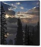 Snow Lake Sunset Canvas Print
