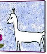 Snow Lamb Canvas Print