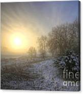 Snow Landscape Sunrise Canvas Print