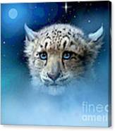 Snow Leopard Cub Canvas Print
