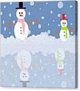 Snow Man Canvas Print