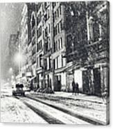 Snow - New York City - Winter Night Canvas Print