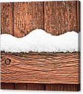 Snow On Fence Canvas Print