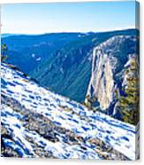 Snow On Sentinel Dome In Yosemite Np-ca Canvas Print