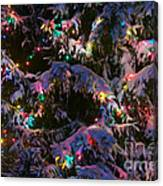Snow On The Christmas Tree Canvas Print