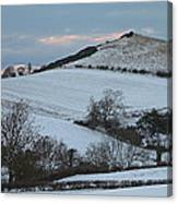 Snow On The Hill Canvas Print