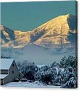 Snow On Utah Mountains Canvas Print
