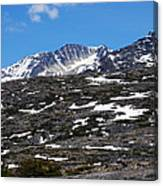 Snow Patched Mountain Canvas Print